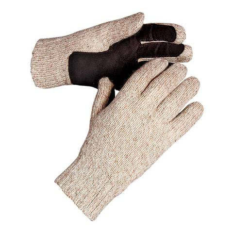 Утепленные рабочие перчатки со спилковым наладонником ХАКАСЫ