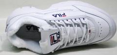 Женские белые кроссовки Fila Disruptor II