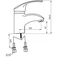 Смеситель KAISER Classic 16011 для раковины схема