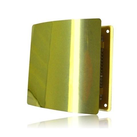 Решетка на магнитах Родфер РД-140 Золотая с декоративной панелью 140х140 мм
