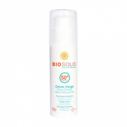 Крем солнцезащитный для лица SPF 50+ BIOSOLIS, 50 мл