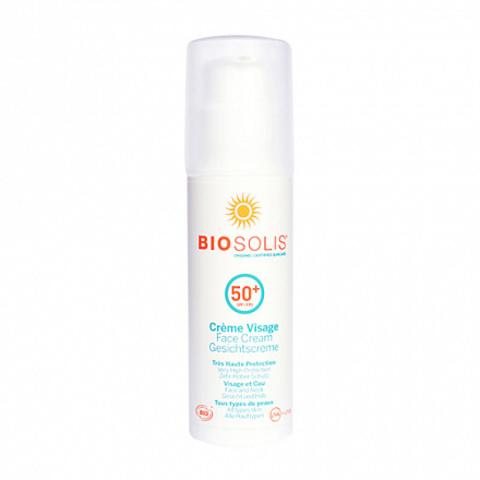 Крем солнцезащитный для лица SPF 50+ BIOSOLIS