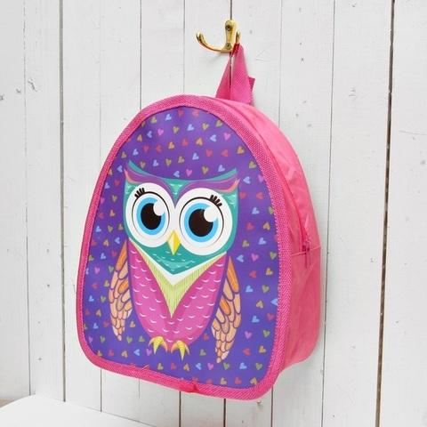 Рюкзак детский фиолетовый Совушка