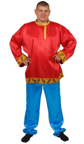 Рубаха-косоворотка красная