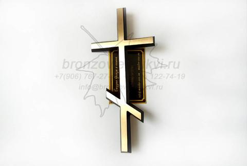 Бронзовый православный крест, художественное литье