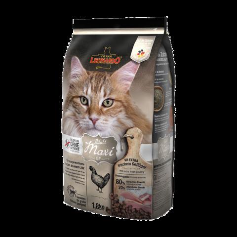 Leonardo Adult Maxi GF Сухой корм для кошек крупных пород с курицей (беззерновой)