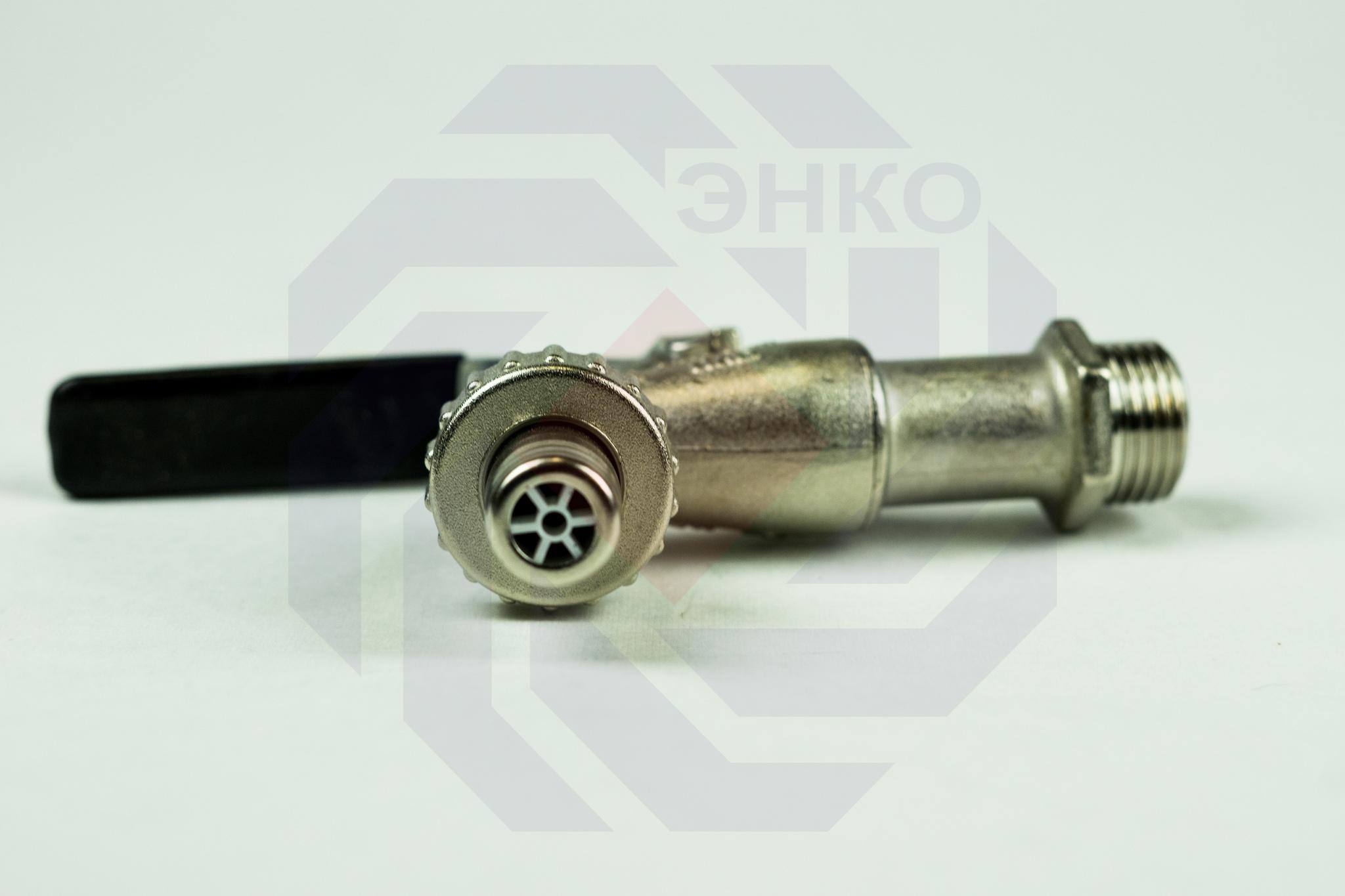 Кран шаровой с присоединением для шланга/НР BUGATTI 661 ½