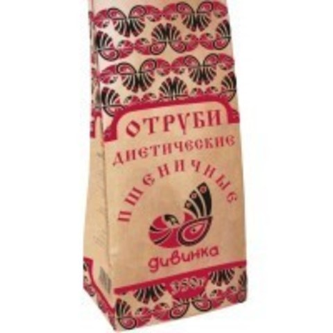 Отруби Дивинка Пшеничные Диетич 350г (Крафт Пакет)