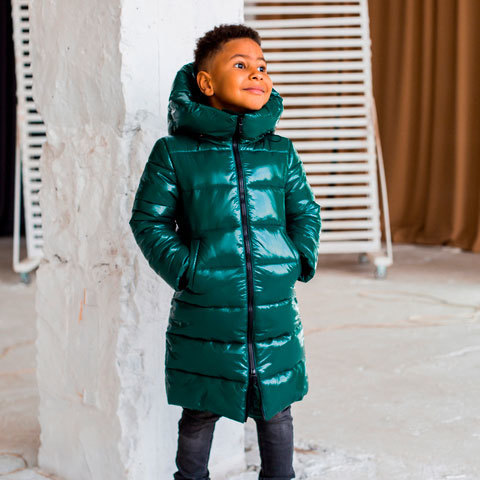 Дитяче, підліткове зимове пальто для хлопчика