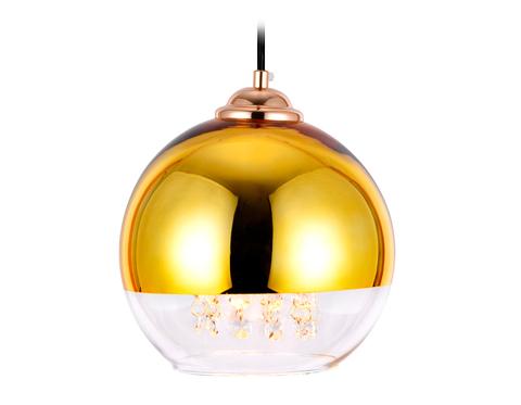 Подвесной светильник со сменной лампой TR3602 GD/CL золото/прозрачный E27 max 40W D200*1000