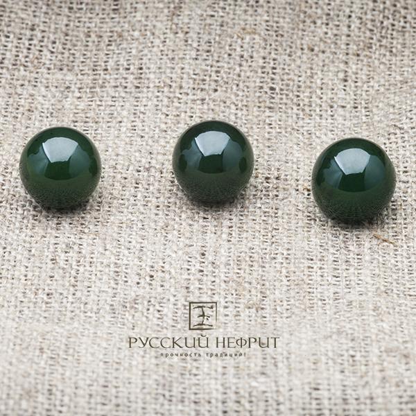 Вставки Шарик 13мм. Тёмно-зелёный нефрит (класс модэ). businy_zel_13.jpg