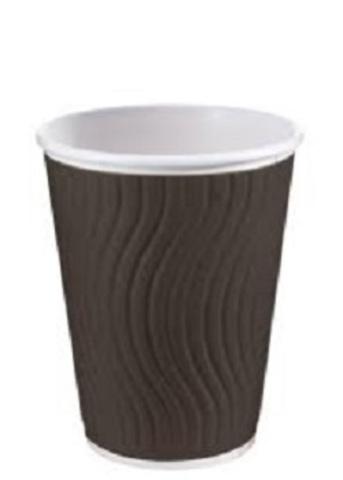 Стакан одноразовый 300мл бумажный NDW12 Черный волна TL90 2 сл.гор.напитков