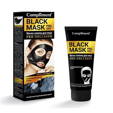 Compliment Black Mask Маска-пленка для лица PRO-COLLAGEN