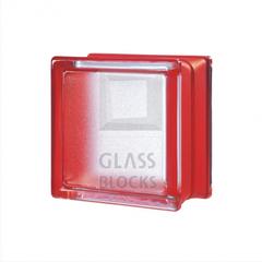 Купить стеклоблок красный Mini Classic 14.6x14.6x8 см. не дорого
