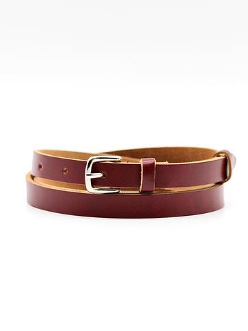 Женский кожаный бордовый ремень Coscet WW15-1-3