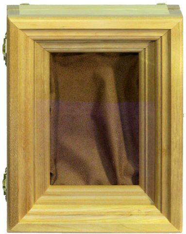Киот из мореной березы для настольной иконы размером 15х10см