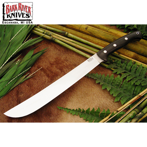 Мачете Bark River модель Golok Upswept Black Canvas Micarta