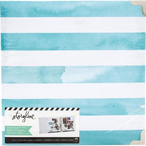 Папка на кольцах для Project Life ( для файлов 22х28 см) Heidi Swapp Storyline2 D-Ring Album  -Watercolor Stripe