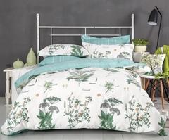 Сатиновое постельное бельё  1,5 спальное Сайлид  В-182