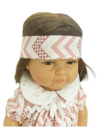 Платье с воротничком - На кукле. Одежда для кукол, пупсов и мягких игрушек.