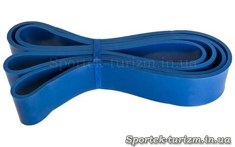 Гума для підтягувань (силова стрічка) POWER BANDS синя, FI-0889-4, розмір 2080x45x4,5мм, опір 25-57 кг