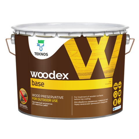 TEKNOS WOODEX BASE/Текнос Вудекс База Грунтовочный антисептик