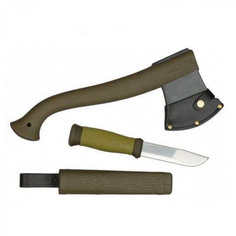 Набор Morakniv Outdoor Kit MG, нож Mora 2000 + топор (зеленый, оранжевый)