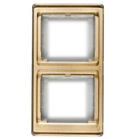 Рамка на 2 поста, вертикальная. Цвет Золотая бронза. JUNG SL. SL582GB