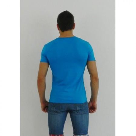 Мужская футболка поло голубая Paul Smith