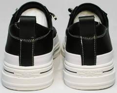 Летние женские кеды туфли кэжуал El Passo sy9002-2 Sport Black-White.