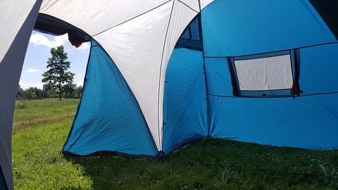 Палатка Canadian Camper SANA 4 PLUS, цвет royal, веранда изнутри.