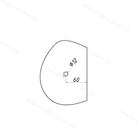 Ручка кноб для душевой HDL-684-AL CP