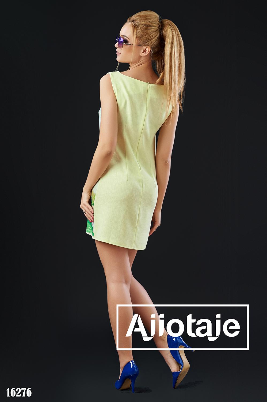 Легкое льняное платье-шифт желтого цвета