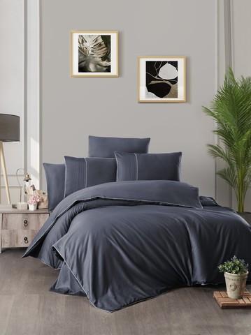 Комплект постельного белья DO&CO Сатин  жаккард DELUX CATRA FANTAS 2 спальный Евро цвет синий