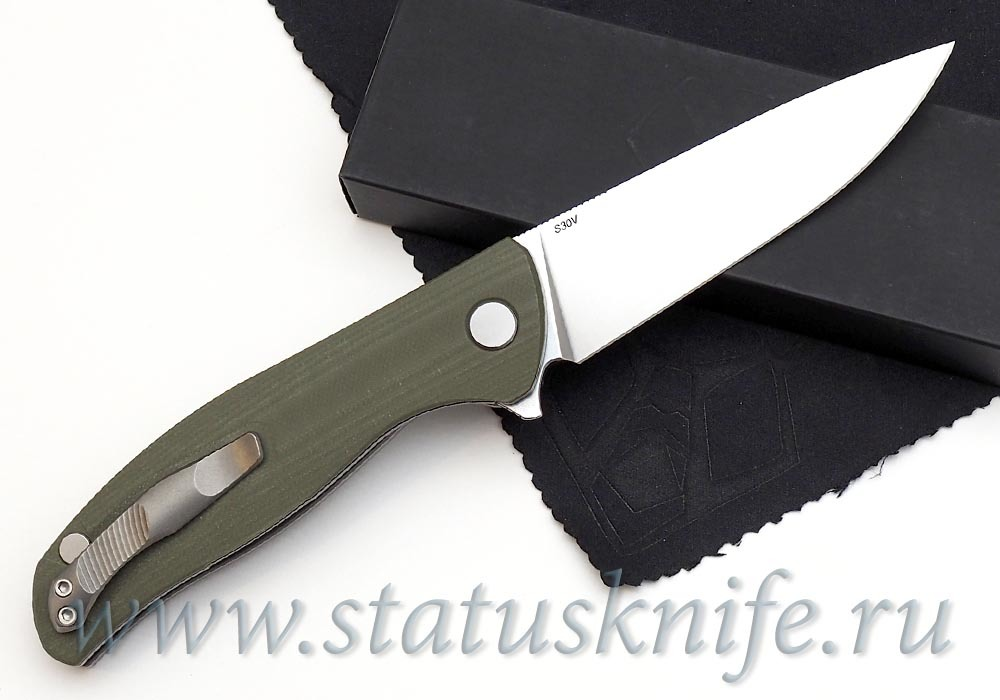 Нож Широгоров Ф3 S30V G10 3D олива подшипники - фотография