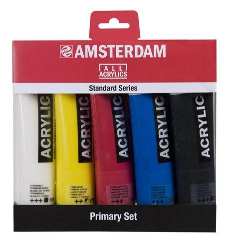 Набор акриловых красок Amsterdam Standard - 5 цветов в тубах по 120мл