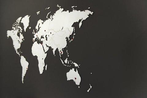 Карта мира Wall Decoration White 180 x 108 cm