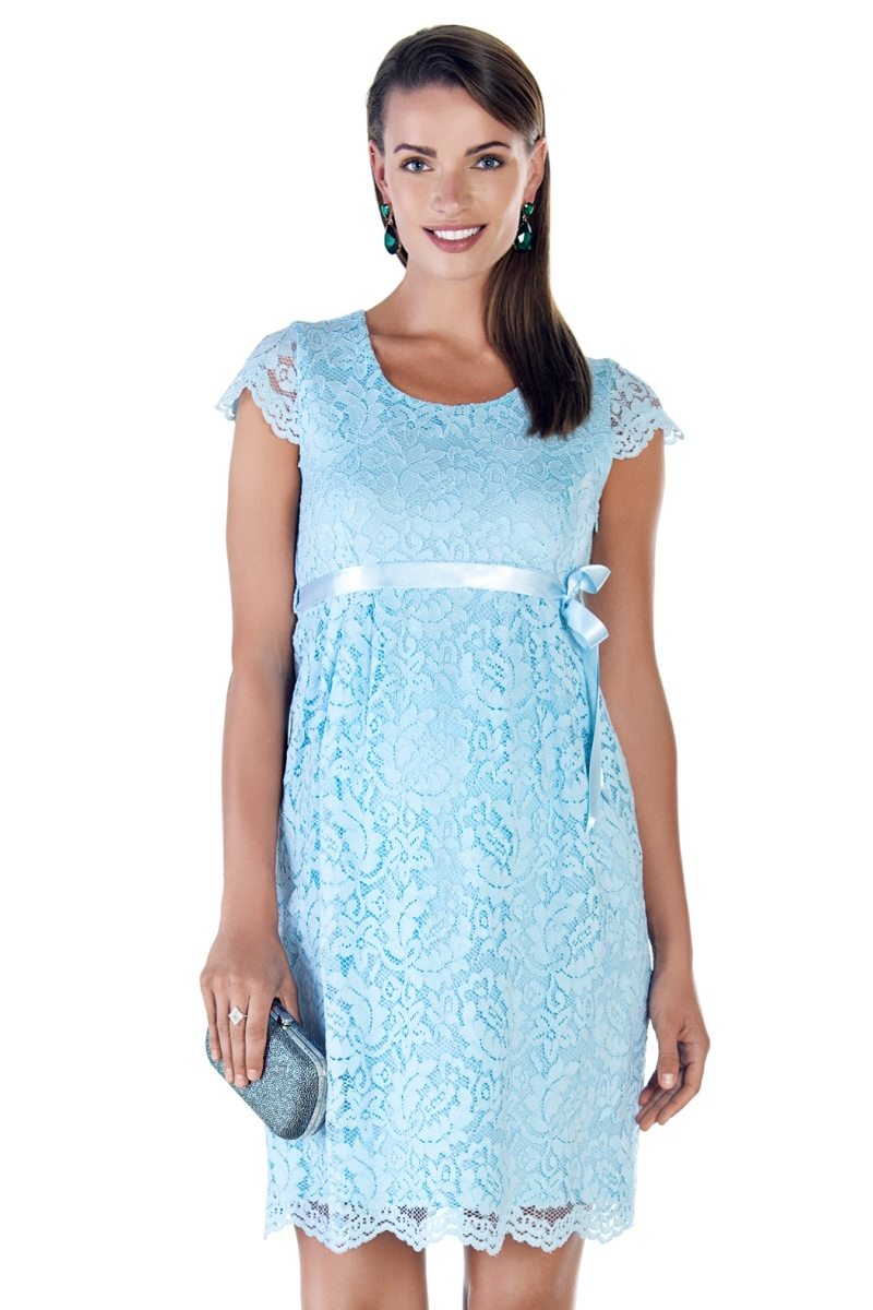 Фото платье для беременных EBRU, вечернее от магазина скороМама, голубой, размеры.