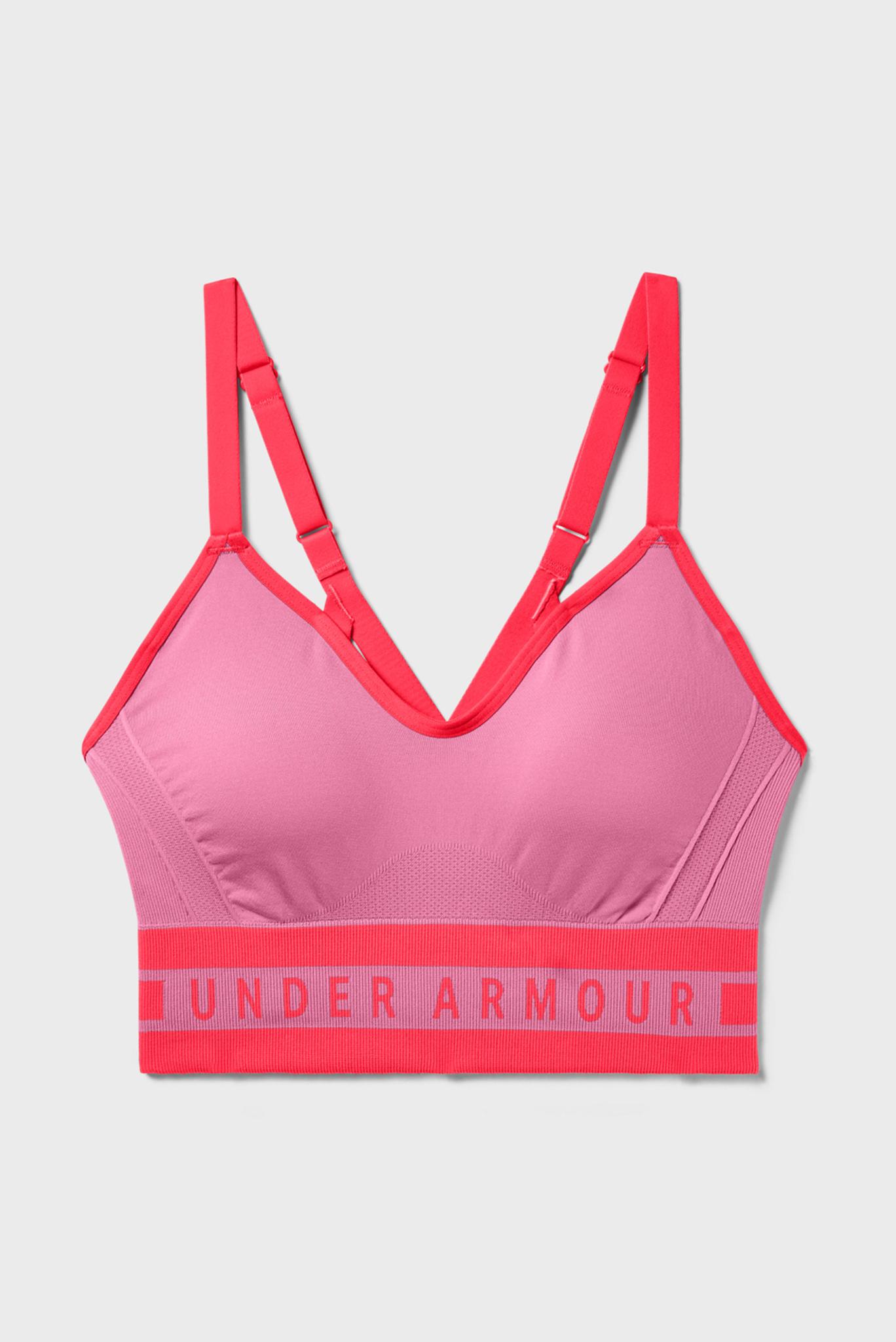 Женский розовый спортивный топ Seamless Longline Bra Under Armour