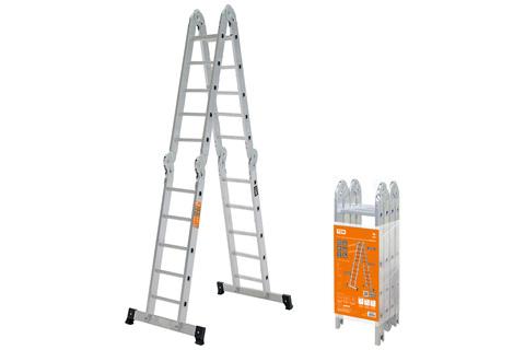 Лестница-трансформер алюминиевая ЛТА4х5, 4 секции по 5 ступеней, h=540/260/142 см, 13,2 кг TDM
