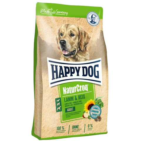 Happy Dog NaturCroq Lamm&Reis для собак с чувствительным пищеварением на основе ягненка и риса 15 кг