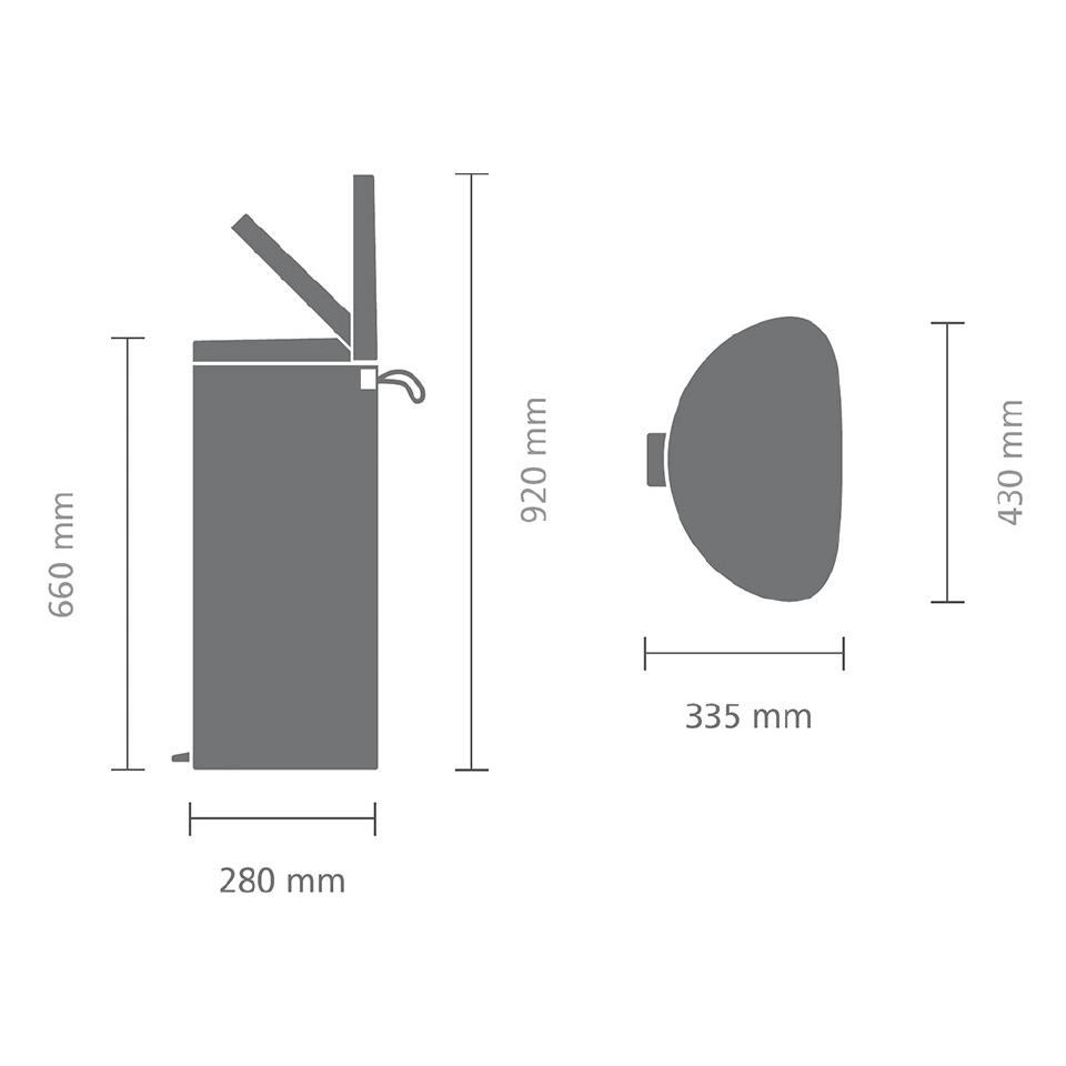 Мусорный бак FlatBack+ (40л), Пламенно-красный, арт. 485220 - фото 1