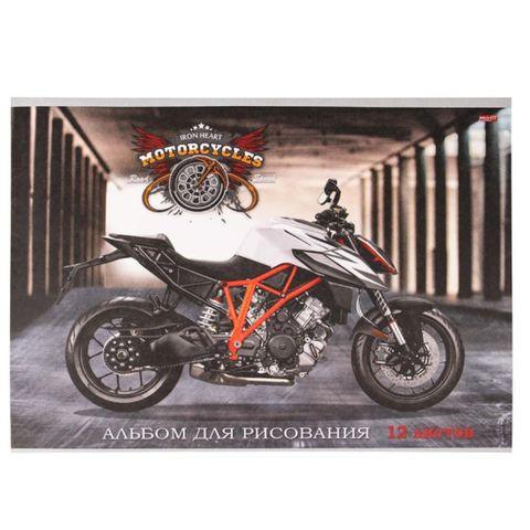 Альбом д/рисования PROFIT Усиленный мотоцикл 12 л А4 12-5330