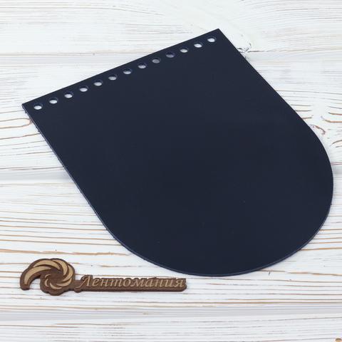 """Клапан для сумочки кожаный """"Ночное небо"""" 19,5 см на 15,5 см"""
