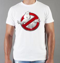 Футболка с принтом Охотники за привидениями (Ghostbusters) белая 006