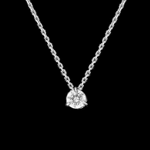 07-0104-00-501-1120-38-Колье из белого золота с подвеской Swarovski Gems