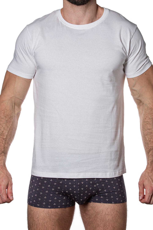 Мужская футболка T750-1 с коротким рукавом и круглым вырезом
