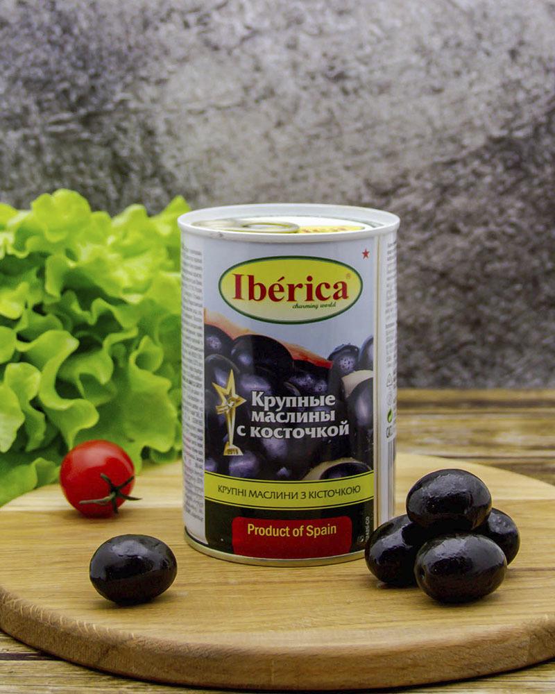 Маслины Iberica с Косточкой 420 гр.