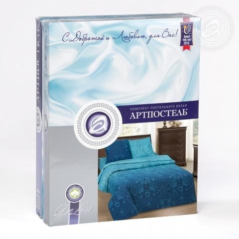 Комплект постельного белья Притяжение DE LUXE с простынью на резинке