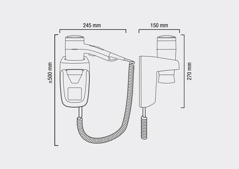 Фен настенный VALERA PREMIUM PROTECT 1200